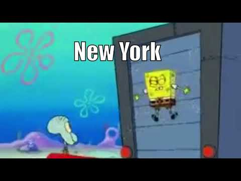 States in the Mid-Atlantic Portrayed by Spongebob ( check description for reason )