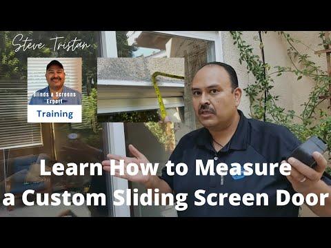 Measuring An Ez Slide Patio Sliding Screen Door Youtube
