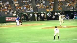 2012.8.31 巨人vs横浜 投手・桑田vs打者・駒田の1打席対決形式の始球式。