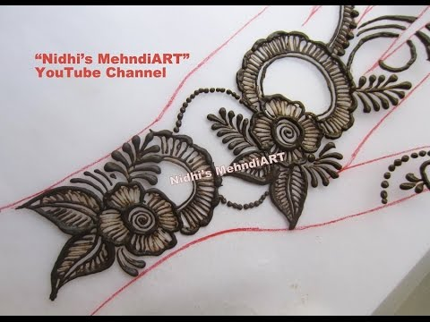 Flower Mehndi Designs For Back Hands : Unique diy floral back hand henna mehndi design tutorial youtube