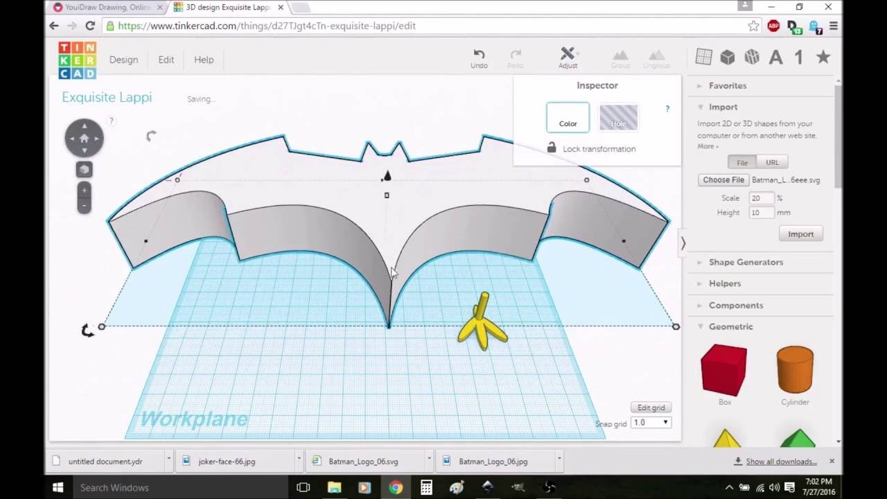 How to Import a SVG Vector File into Tinkercad