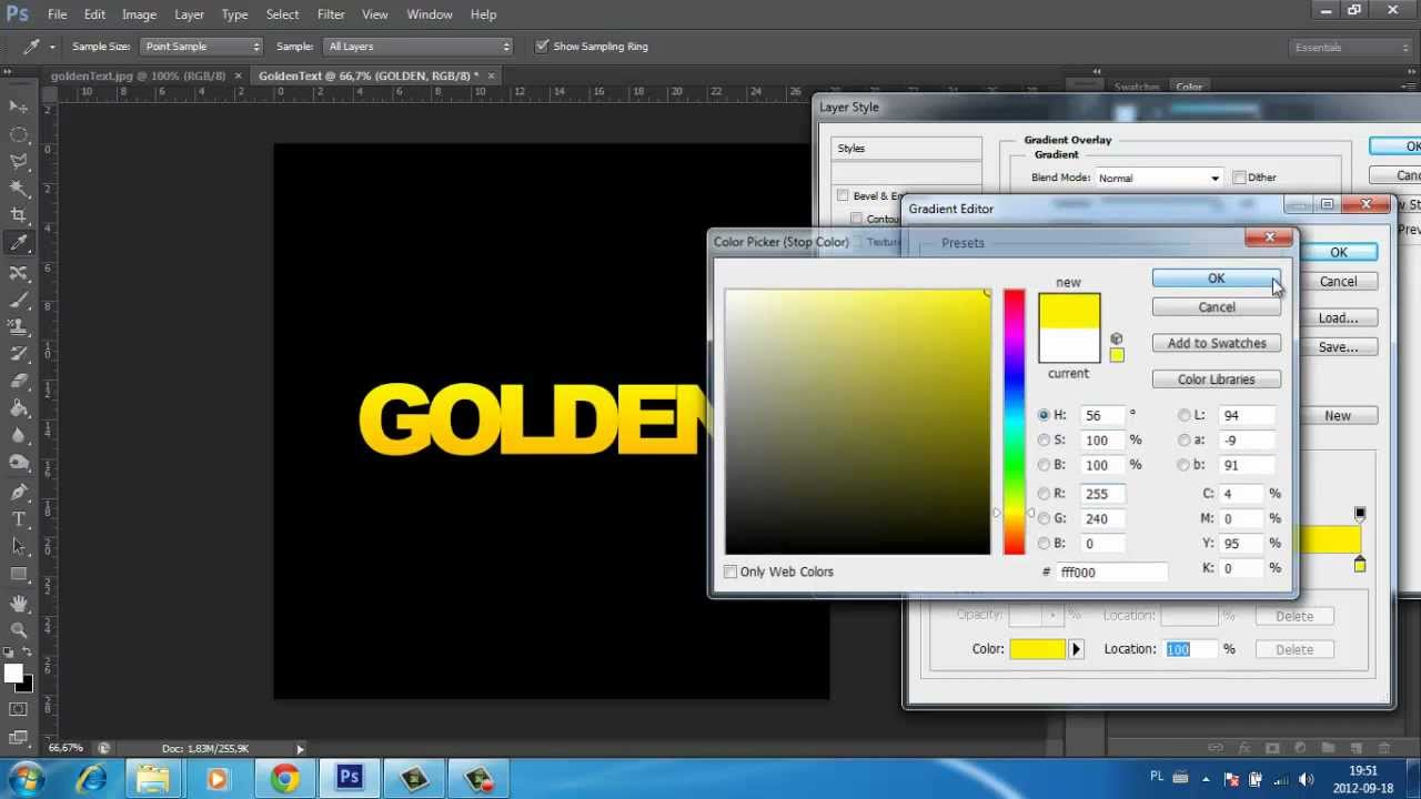 Image Result For Gold Color Text In