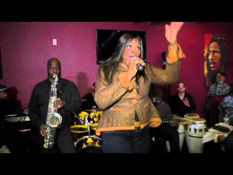 Cynthia Tucker performing live...