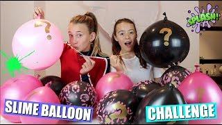 SLIME BALLOON CHALLENGE!   MYSTERY SLIJM MAKEN MET BALLONNEN?