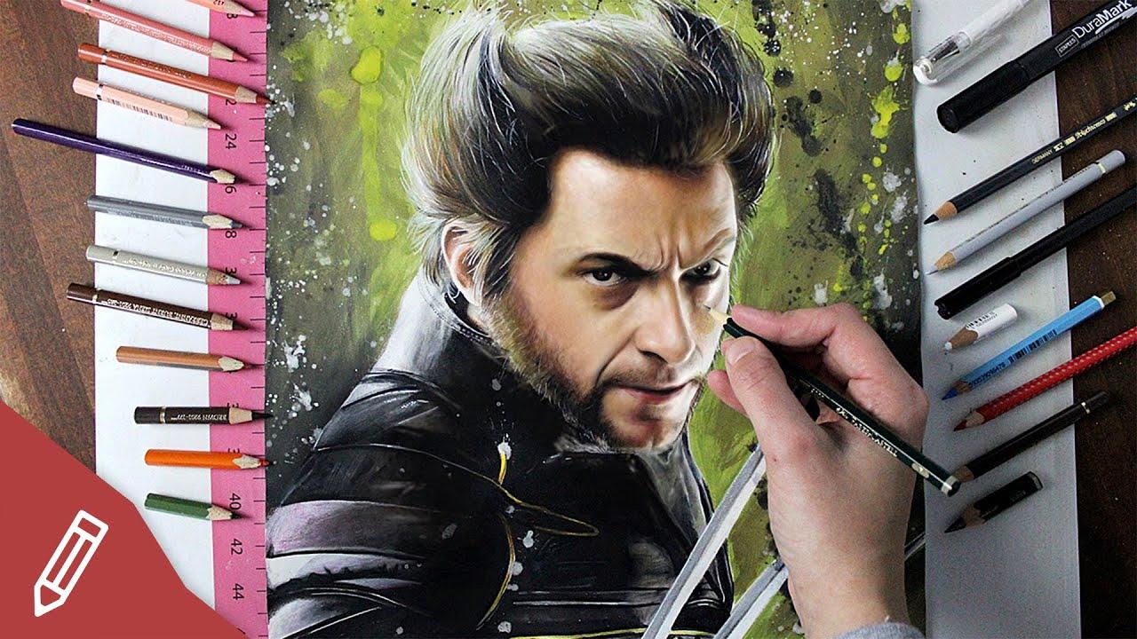 WOLVERINE - Drawing Hugh Jackman - X MEN (FILMKRITIK REVIEW) - YouTube
