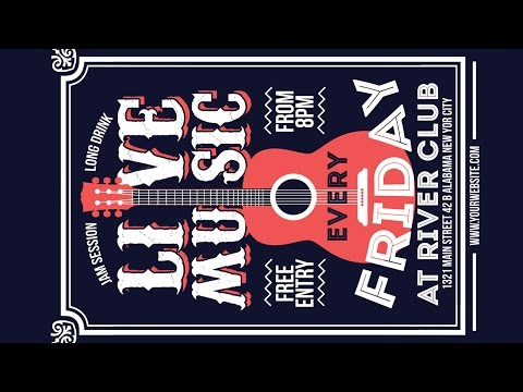 Creating a Live Music Poster Design - Coreldraw Tutorials