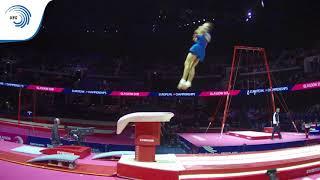 Ares FEDERICI (ITA) - 2018 Artistic Gymnastics Europeans, junior vault bronze medallist