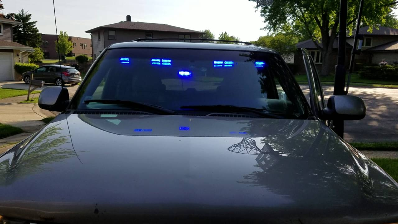 Extreme Tactical Dynamics Stealth Commander 9 Visor Lightbar - YouTube