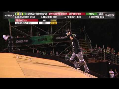 Jake Brown lands first ollie 720 in Skate Big Air