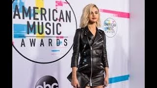 Lady in Leather! Selena Gomez arrives in style at 2017 AMAs