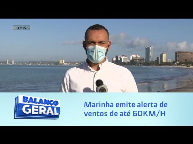 Frente fria: Marinha emite alerta de ventos de até 60KM/H para Alagoas