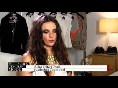 Top-model Kira Dikhtyar. Documentary for VOX television...