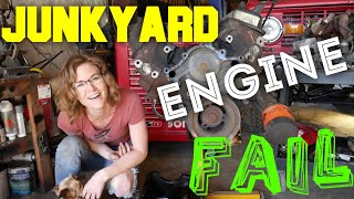 JUNKyard engine FAIL! In the shop with Emily EP 45