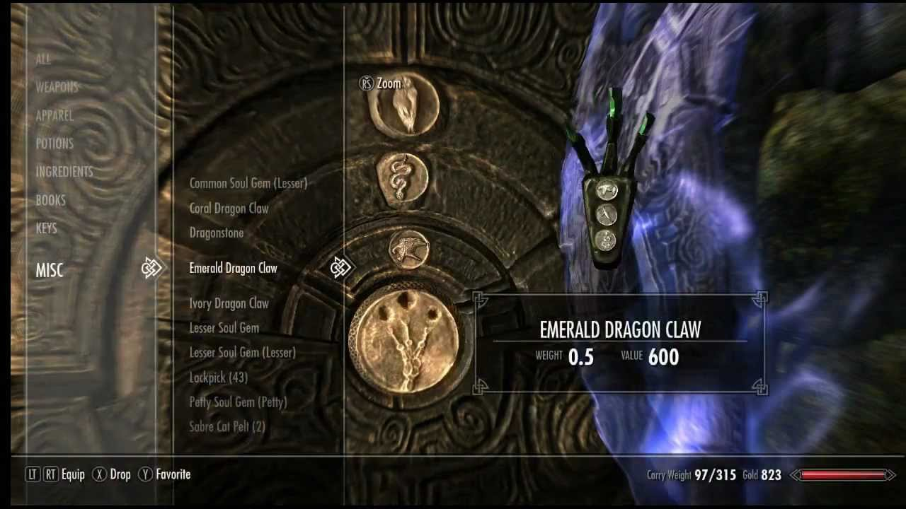 Skyrim Solve All Dragon Claw Puzzle Youtube