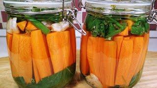 Хрустящая малосольная Морковка по рецепту бочковых огурцов. Морковка хрустит как огурчики!