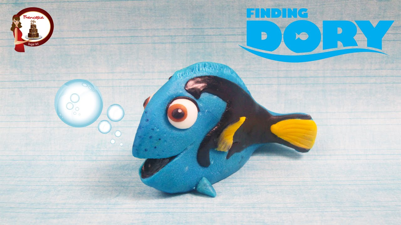 Finding Dory out of fondant cake topper Alla ricerca di Dory in