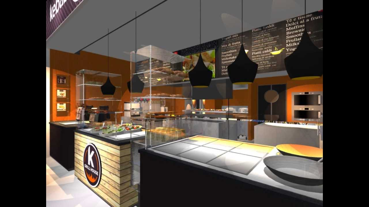 Kebab grill house concept design by 23bassi youtube for Interior design house grill