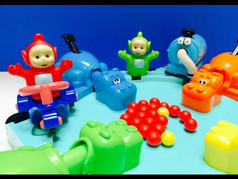 TELETUBBIES Toy Play Hungry Hippos Marble Game!