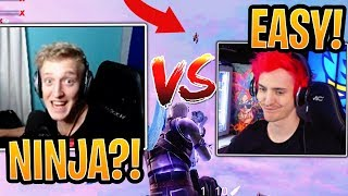 Tfue vs Ninja 1v1 in a Public Match! (BOTH POV) - Fortnite Best and Funny Moments