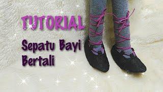 How To Make Strappy Baby Shoes - DIY SEPATU BAYI LENGKAP POLA