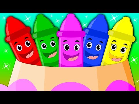 Five Little Crayons | English Rhymes For Children | Baby Rhymes English | Songs For Children