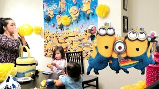 Gambar cover Decorating a Minion Birthday Party! - March 04, 2016 -  ItsJudysLife Vlogs