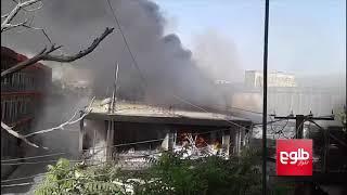تصویر تازه از شهر غزنی؛ شماری از ساختمانها آتش گرفتهاند و طالبان در شهر گشتوگذار میکنند