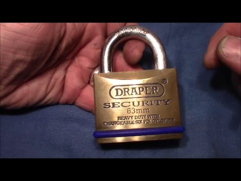(picking 123) DRAPER 6-pin padlock picked and gutted - thanks to Chris for the massive lock