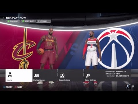 NBA Basketball - Cleveland Cavs @ Washington Wizards - NBA LIVE 18 Simulation Full Game 17/12/17