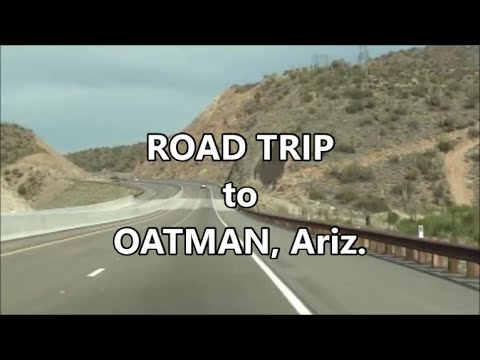 OLD GHOST TOWN Oatman, Arizona - road trip to the Black Mountains of Mohave County