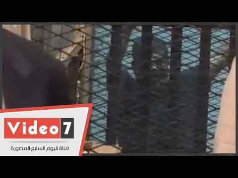 فيديو وصور ترصد أول رد فعل لمرسي وبديع والعريان بعد إحالتهم للمفتي