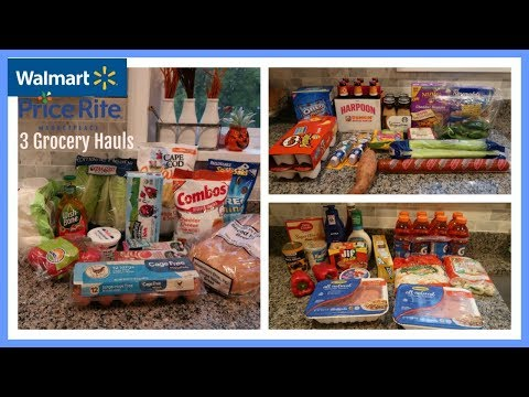 2 Wal-Mart Grocery Hauls &  Price Rite Haul w/ Meal Plan for next week