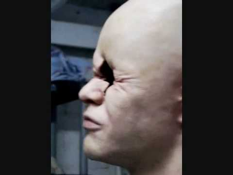 Imploding silicone face test