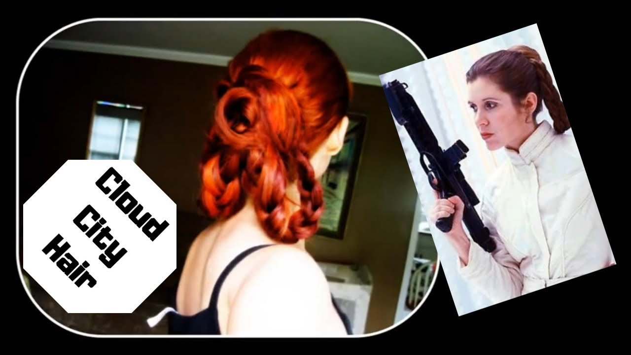 Princess Leia Bespincloud City Hairstyle Using Clip In Extensions