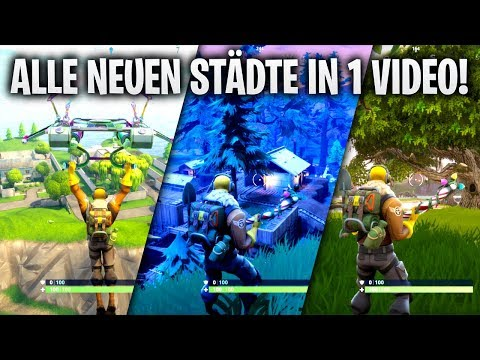 ALLE NEUEN STÄDTE IN 1 VIDEO! 🔴 | Fortnite: Battle Royale