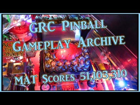 PIRATES OF THE CARIBBEAN Pinball Machine ~ GRC Archive Gameplay ~ MAT Scores 51,103,310