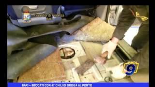 Bari | Beccati con 47 chili di droga al porto