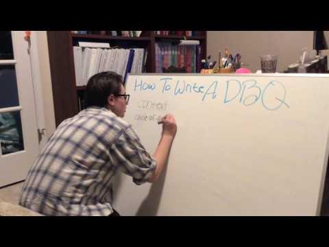 How to write a DBQ