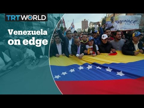Venezuela's opposition leader claims power