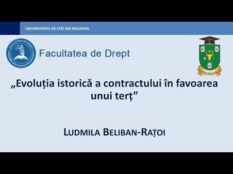 Ludmila Beliban-Ratoi — Evoluția istorică a contractului în favoarea unui terț