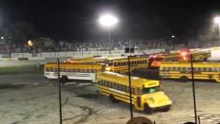 Rockford Speedway Demo Derby - School Bus Figure 8