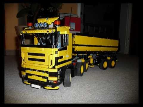 lego technik dump truck 6x4 kippsattel diashow youtube. Black Bedroom Furniture Sets. Home Design Ideas