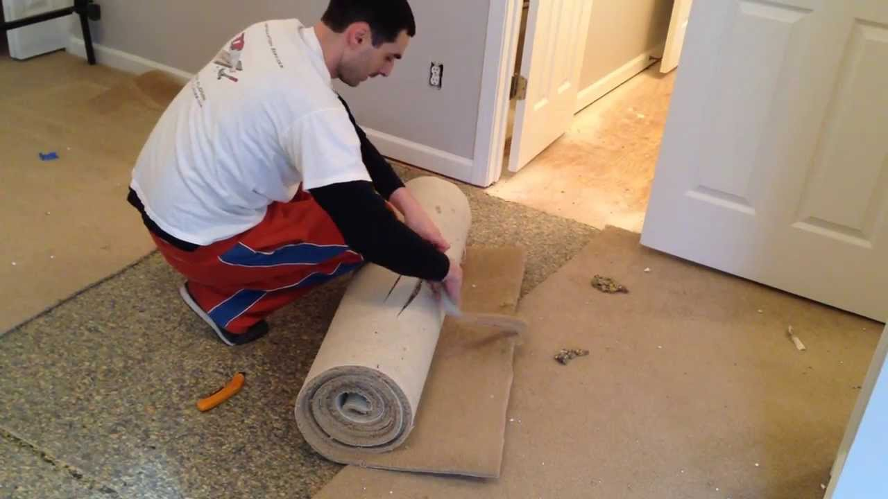 How to Remove Carpet Before Hardwood Installation - YouTube