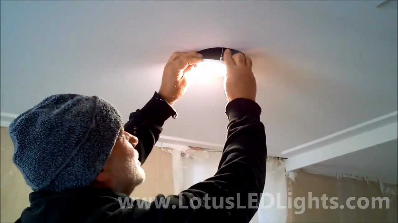Recessed LED Lights Installation - YouTube