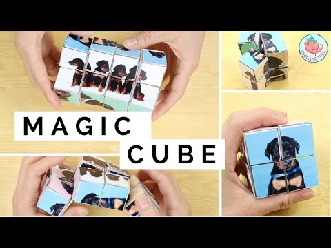 DIY Transforming Infinity Cube Paper Toy Tutorial (FREE PUPPIES PRINTABLES) | Paper Crafts Gift Idea