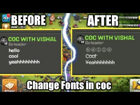 How to change Fonts in Clash of clans !!?