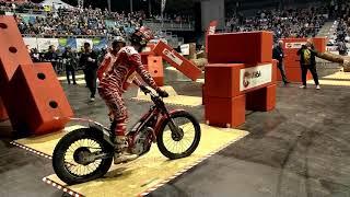 HallenTrial 2018 Indoor Trial Wiener Neustadt - Jaime Busto  on GasGas wins!