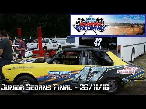 Junior Sedans Final - Carrick Speedway 26-11-16 - dirt track racing video image