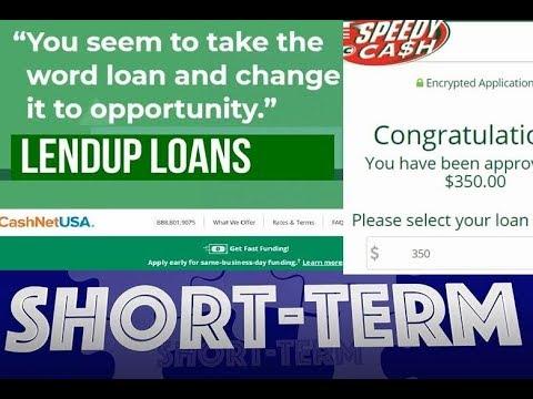 Short Term Loan Reviews, Lendup, Cashnetusa, & Speedy Cash, Legit, Approved,Extensions, Real Review