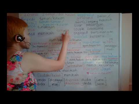 LEARN DUTCH/ NETHERLANDS & INDONESIAN LANGUAGE/ BAHASA INDONESIA [IN ENGLISH] #32 MARITAL STATUS